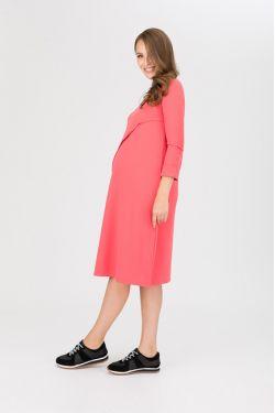 """платье """"Богема"""" коралл для будущих и кормящих мам"""