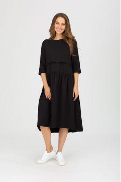 """платье """"Мандрагора"""" черное для будущих и кормящих мам"""