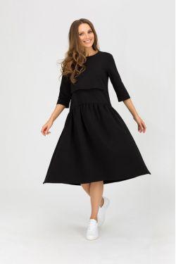 """Платье для кормления """"Мандрагора"""" черное"""