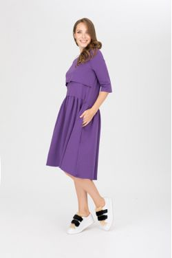 """платье """"Мандрагора"""" фиолетовое для будущих и кормящих мам"""
