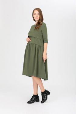 """платье """"Мандрагора"""" хаки для будущих и кормящих мам"""