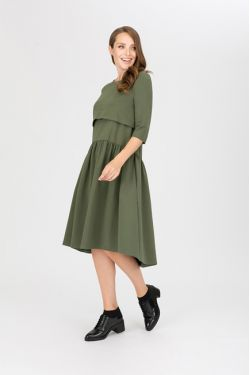 """Платье для кормления """"Мандрагора"""" хаки"""