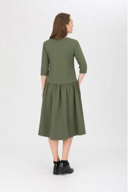 """Платье для кормящих """"Мандрагора"""" хаки"""