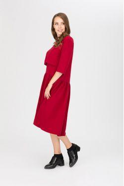 """платье """"Мандрагора"""" вишня для будущих и кормящих мам"""