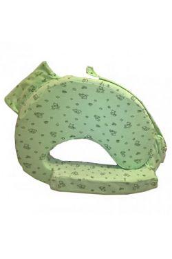 Подушка для кормления «Milk Rivers Support» нежно-зеленая с детским рисунком