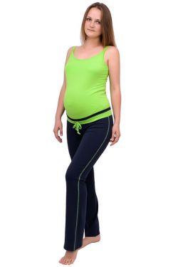 штаны для беременных т. синий салатовый