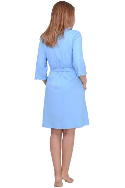 Халат для беременных Л061-2 голубой