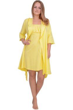 Халат для беременных и кормящих Л061-2 желтый