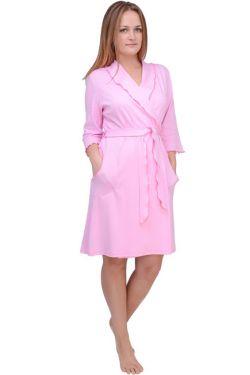 Халат для беременных Л061-2 розовая