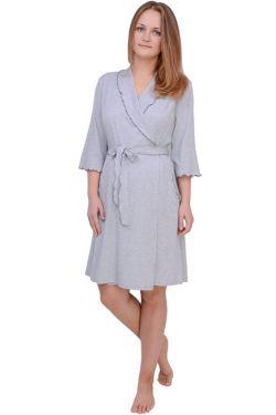 Халат для беременных  Л061-2 серый