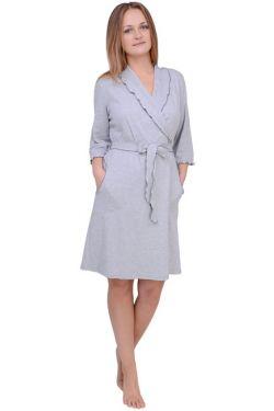 Халат для беременных и кормящих Л061-2 серый