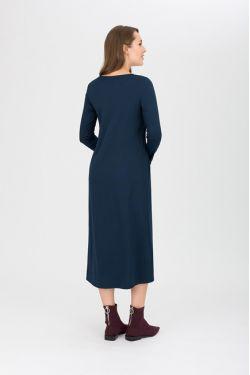 """платье """"Атлантида"""" темно-синее для будущих и кормящих мам"""