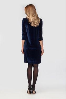 """Платье для беременных """"Бархатный вечер"""" темно-синее"""