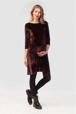 """Платье для беременных """"Бархатный вечер"""" шоколад"""