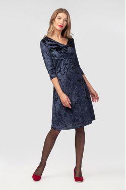"""Платье """"Верона"""" темно-синее"""