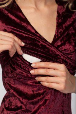 """Платье """"Верона"""" бордо для беременных и кормящих"""