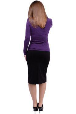 Лонгслив для кормящих мам Л091 фиолетовый