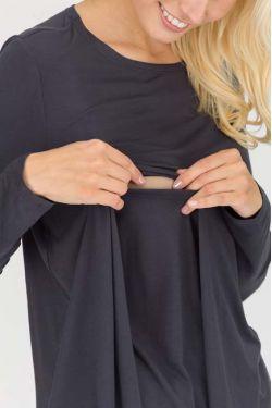 """Блуза для кормления """"Верба"""" антрацит"""