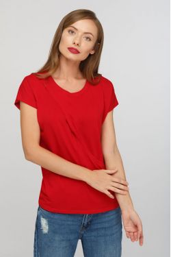 """Блуза для беременных и кормящих """"Шанталь"""" красная"""