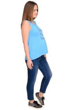 Майка для беременных Л093 голубая