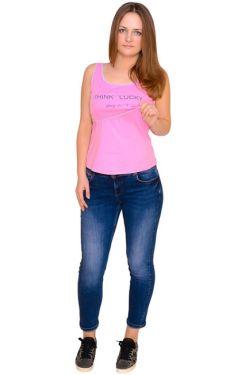 Майка для кормления розовая Л095