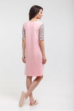 """Ночная сорочка для кормящих """"Леопа"""" розовая"""