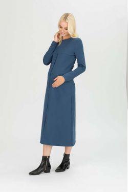 """Платье """"Вектор"""" индиго для беременных и кормящих"""