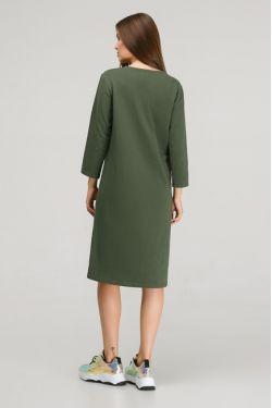 """Платье с длинным рукавом """"Карусель"""" хаки для кормления"""