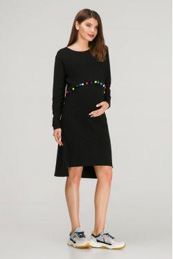 """Платье с длинным рукавом """"Карусель"""" черное"""