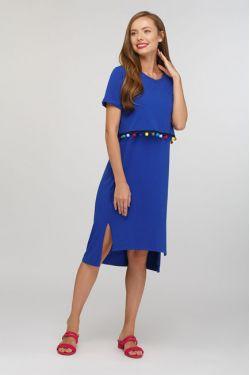 """Платье """"Карусель"""" ярко-синее"""