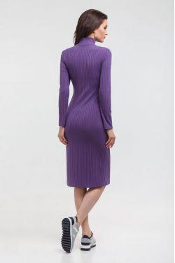 """Платье-водолазка """"Царевна"""" фиолетовое для беременных и кормящих"""