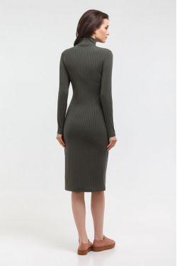 """Платье-водолазка """"Царевна"""" хаки для беременных и кормящих"""