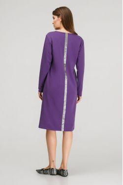 """Платье """"Три полоски"""" фиолетовое для беременных и кормящих"""