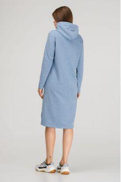 """Платье для кормления с капюшоном """"Чемпионка"""" голубое"""
