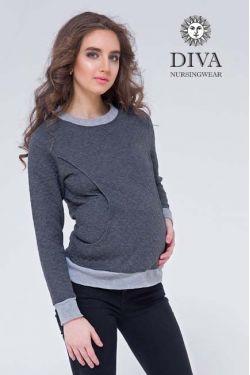Спортивный костюм для кормящих и беременных из капитония Diva Amelia, Grafite