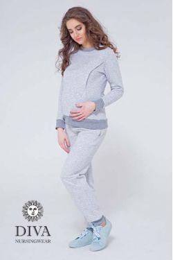 Спортивный костюм для кормящих и беременных из капитония Diva Amelia, Nebbia