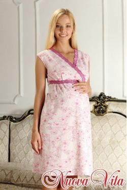 Сорочка с запахом Elegante mamma 208.2