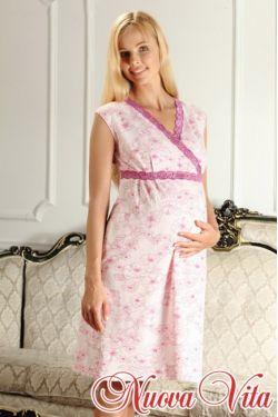 Ночная сорочка с запахом Elegante mamma 208.2