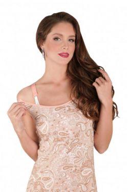 Ночная сорочка для кормления Mamaline розовые узоры