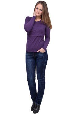 Свитшот для кормящих Л097 фиолетовый