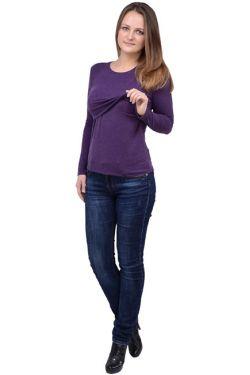 Свитшот для кормящих мам Л097 фиолетовый