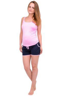 Шорты для беременных Л051 розовый