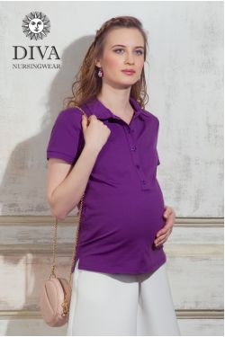 Футболка  Diva Nursingwear Polo, цвет Viola