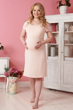 """Ночная сорочка для беременных и кормления """"Цамброне"""""""