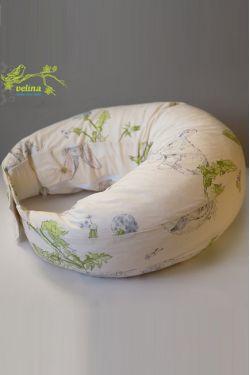 """Подушка для кормления Velina """"Зайчики в одуванчиках"""""""