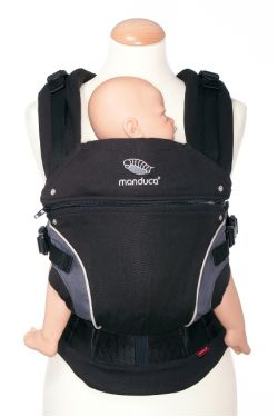 Эрго-рюкзак Manduca,цвет черный (black)