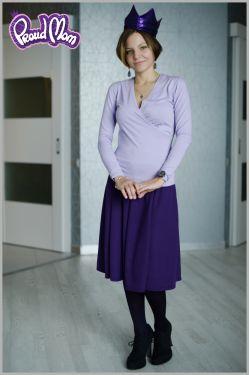 Юбка для беременных фиолетовая