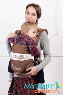 Эрго-рюкзак My Baby Stile, шоколадный, бабочка