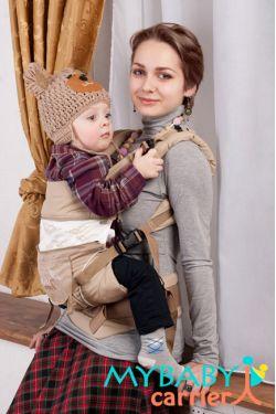 Эрго-рюкзак My Baby Stile, бежевый, птицы