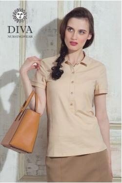 Футболка Diva Nursingwear Polo, цвет Grano